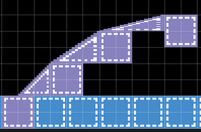 Correct slope placement in the room editor.