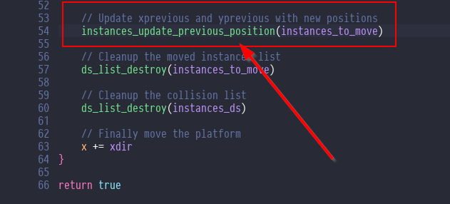 Bug fix for horizontal moving platform