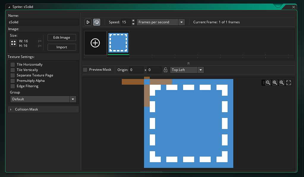 GameMaker Studio 2 Sprite Editor