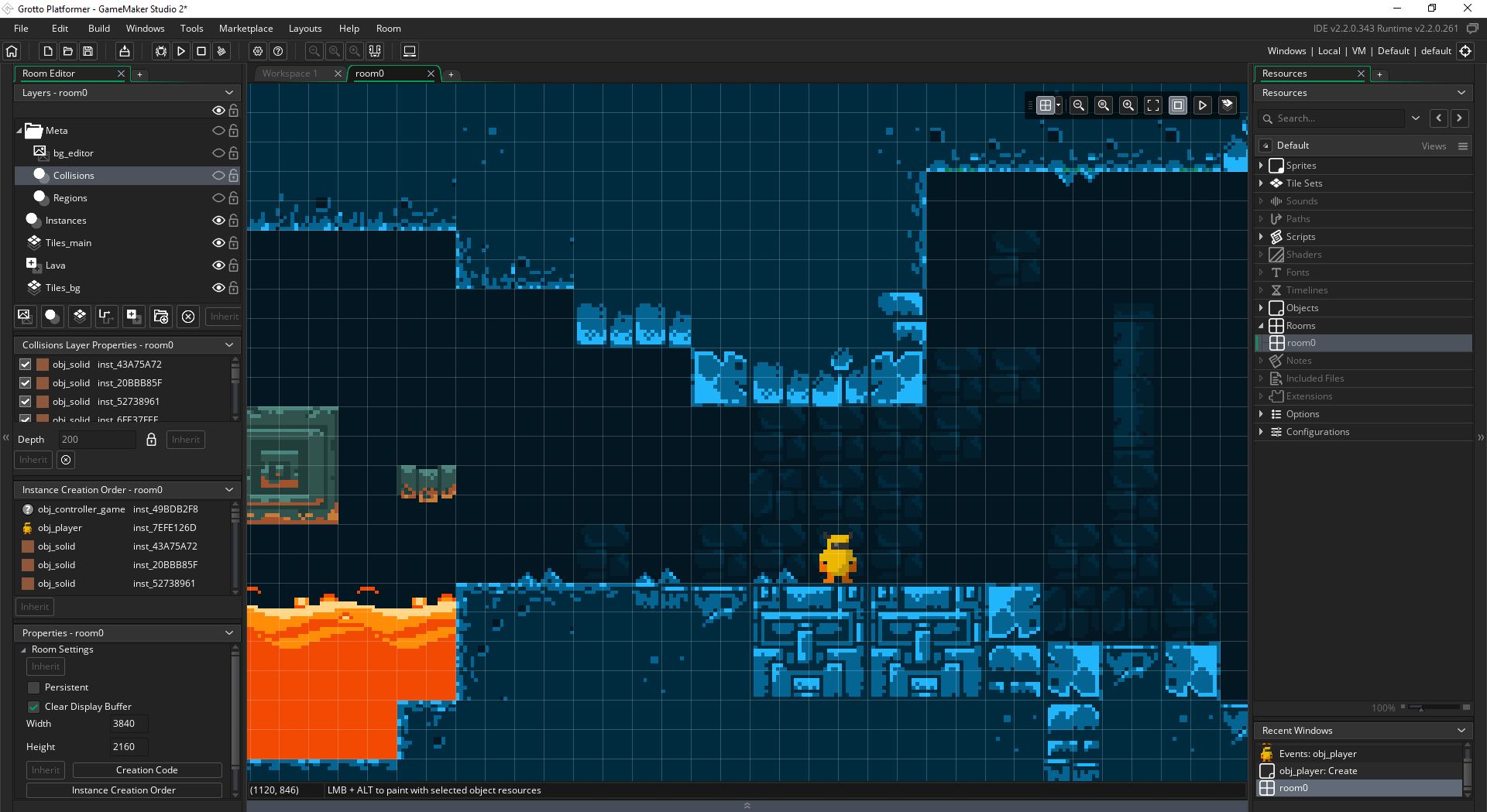 2D Platformer in GameMaker Studio 2