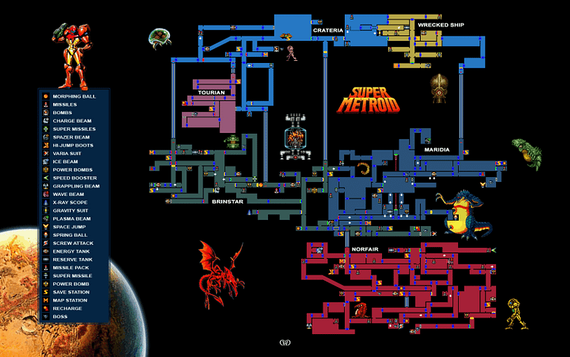 Super Metroid Map